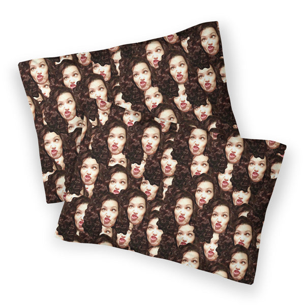 Your Face Custom Home Items-Shelfies-Bed Pillow Case-Double-| All-Over-Print Everywhere - Designed to Make You Smile