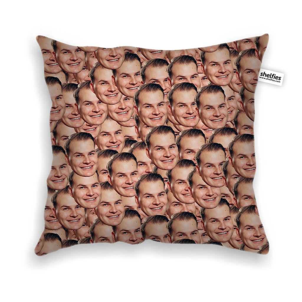 Your Face Custom Throw Pillow Case-Shelfies-One Size-| All-Over-Print Everywhere - Designed to Make You Smile