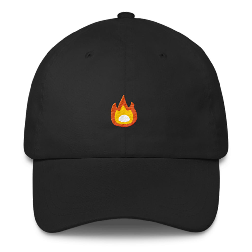 Fire Dad Hat-Shelfies-Black-| All-Over-Print Everywhere - Designed to Make You Smile