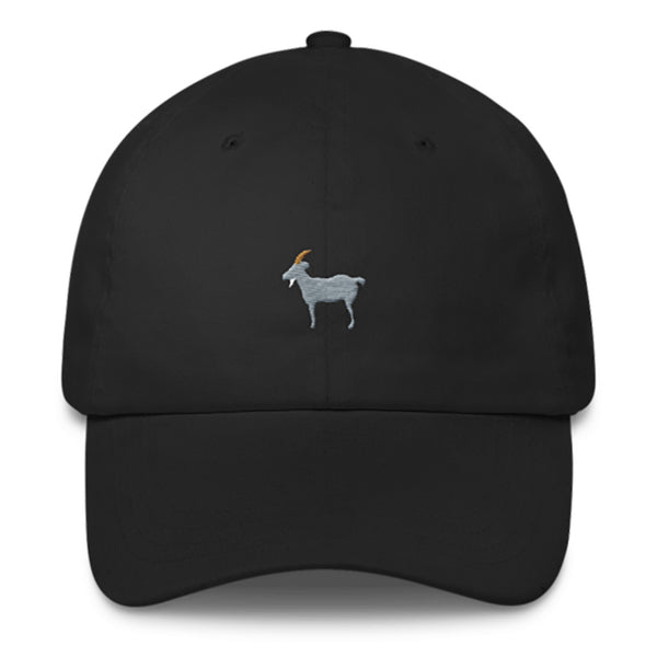 GOAT Dad Hat-Shelfies-Black-| All-Over-Print Everywhere - Designed to Make You Smile