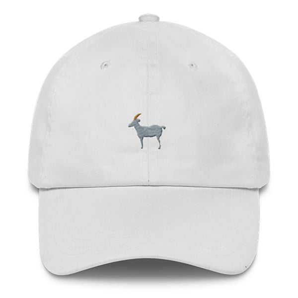 GOAT Dad Hat-Shelfies-White-| All-Over-Print Everywhere - Designed to Make You Smile