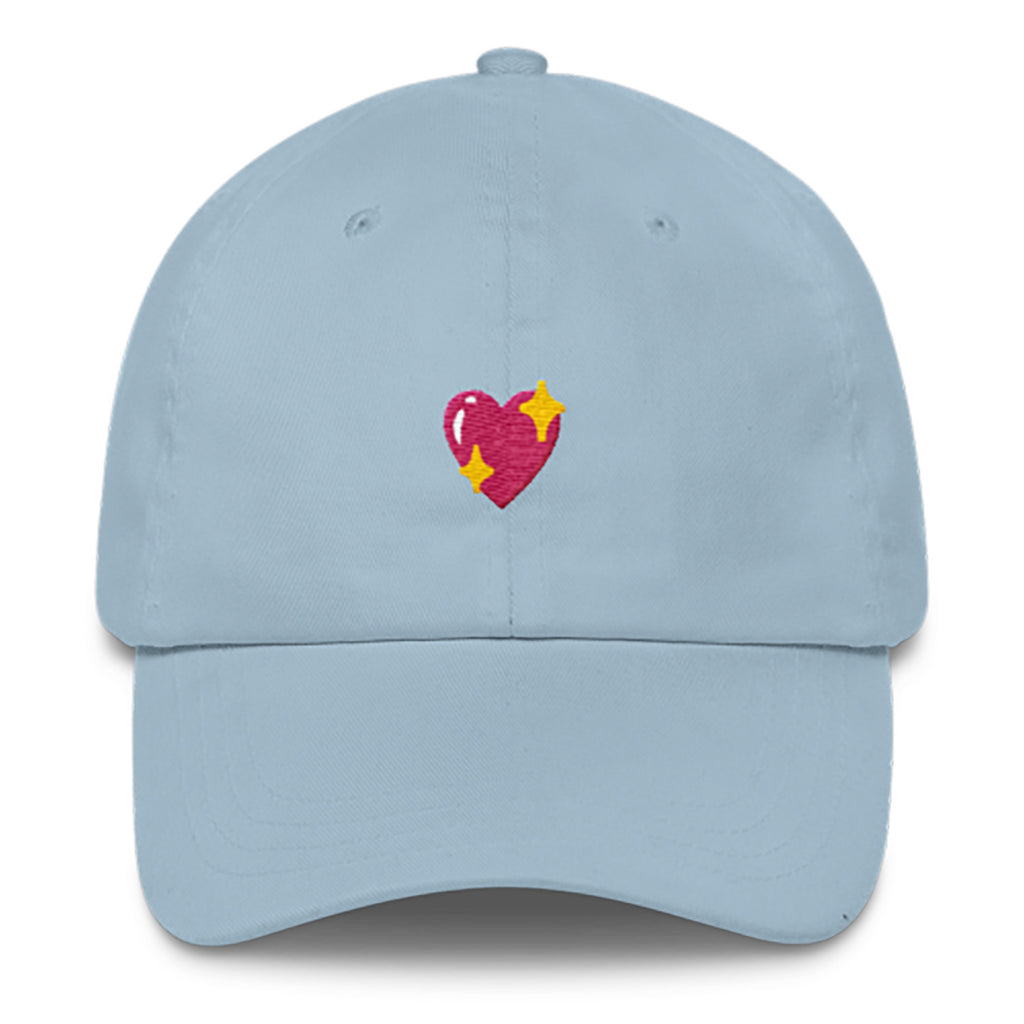 Heart Sparkle Dad Hat-Shelfies-Light Blue-| All-Over-Print Everywhere - Designed to Make You Smile