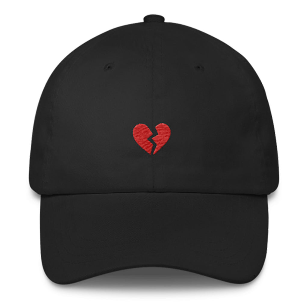 Heartbreak Dad Hat-Shelfies-Black-| All-Over-Print Everywhere - Designed to Make You Smile