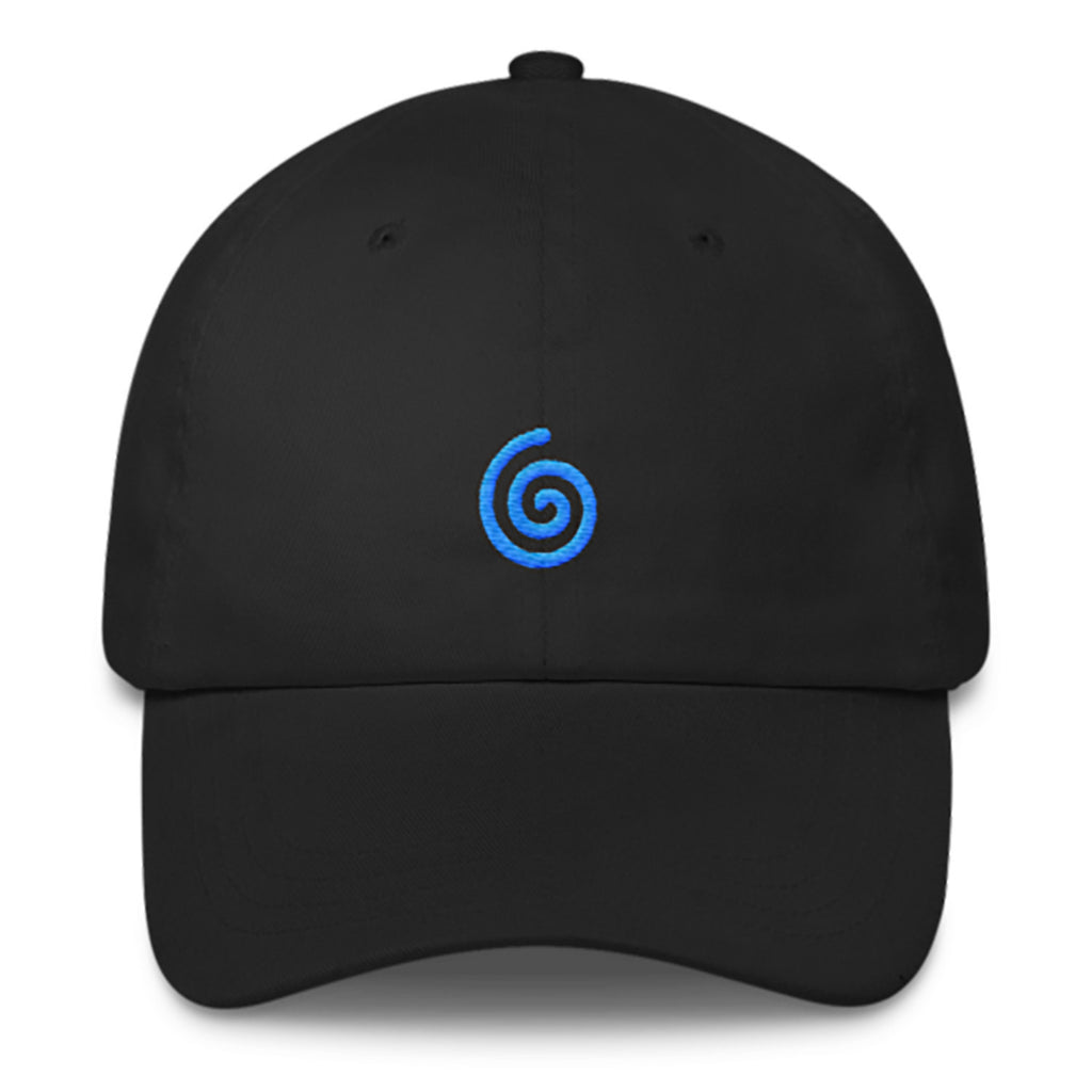 Swirl Dad Hat-Shelfies-Black-| All-Over-Print Everywhere - Designed to Make You Smile