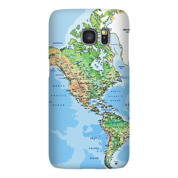 World Map The Americas Smartphone Case-Gooten-Samsung S7-| All-Over-Print Everywhere - Designed to Make You Smile