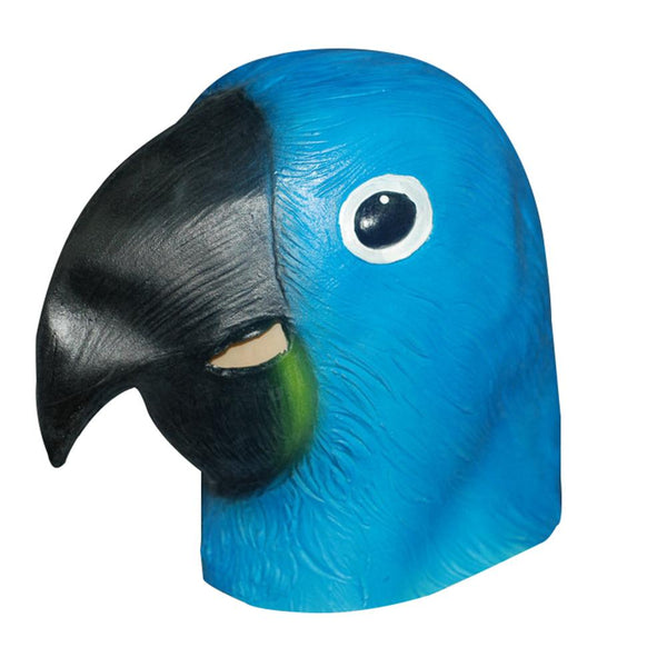 Blue Parrot Head Animal Mask-Shelfies-| All-Over-Print Everywhere - Designed to Make You Smile