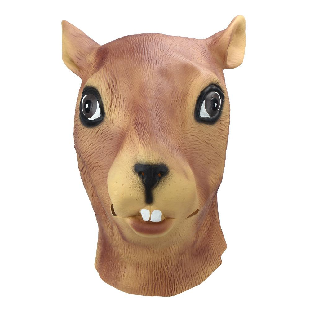 Squirrel Animal Head Mask-Shelfies-| All-Over-Print Everywhere - Designed to Make You Smile