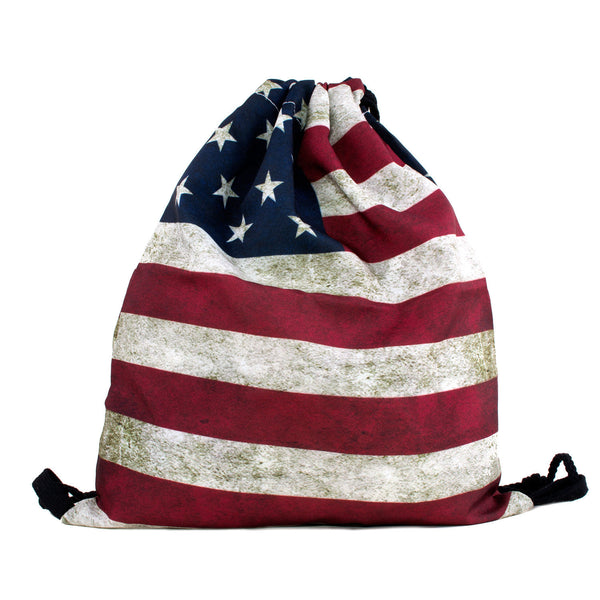 American Flag Drawstring Bag-Shelfies-| All-Over-Print Everywhere - Designed to Make You Smile