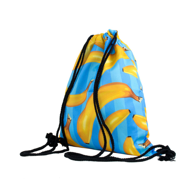 Drawstring Bags - Banana Stripes Drawstring Bag