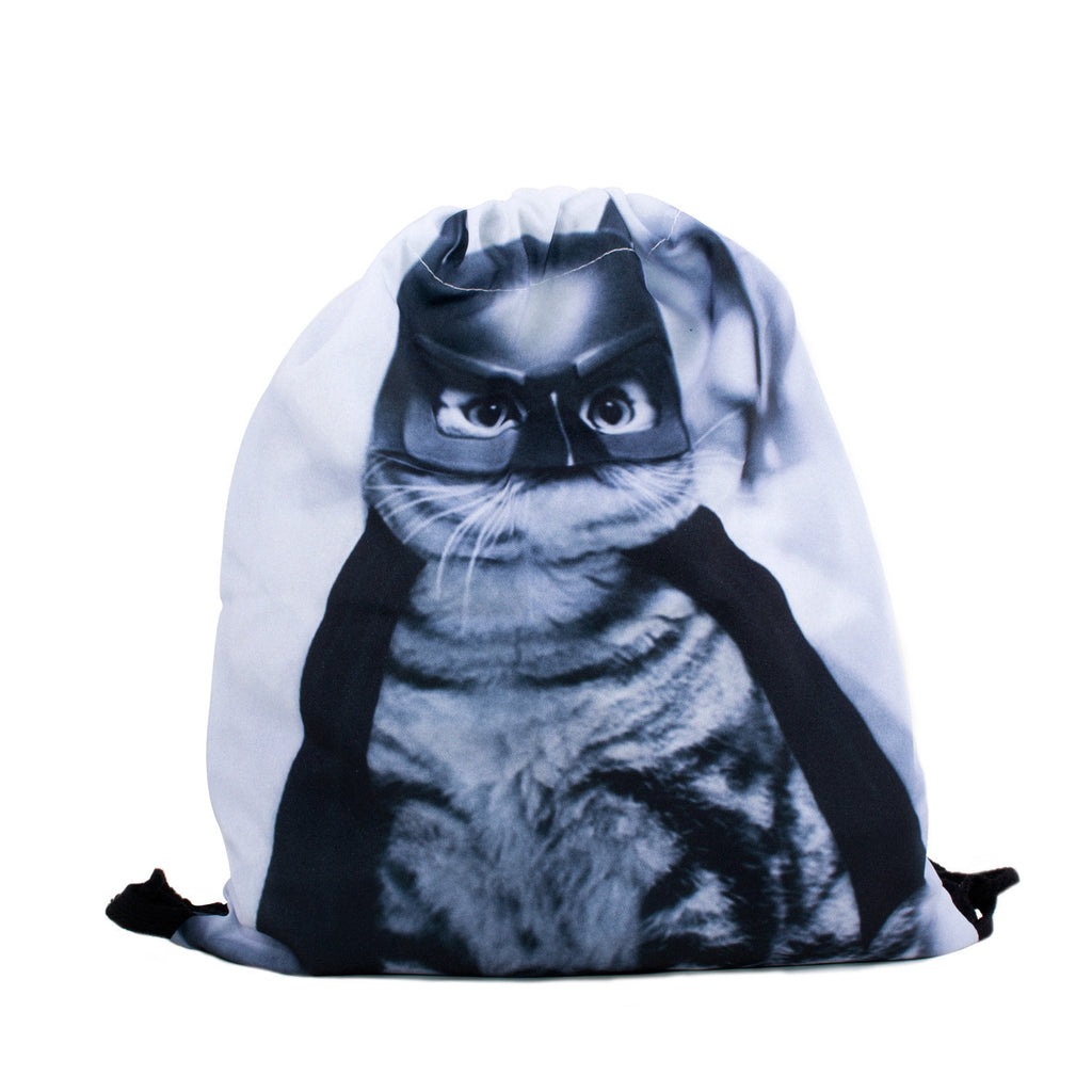 BatCat Drawstring Bag-Shelfies-One Size-| All-Over-Print Everywhere - Designed to Make You Smile