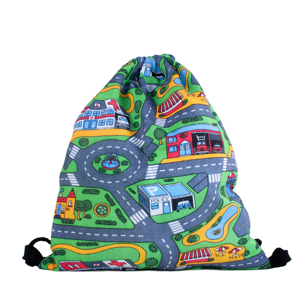 Carpet Track Drawstring Bag-Shelfies-One Size-| All-Over-Print Everywhere - Designed to Make You Smile