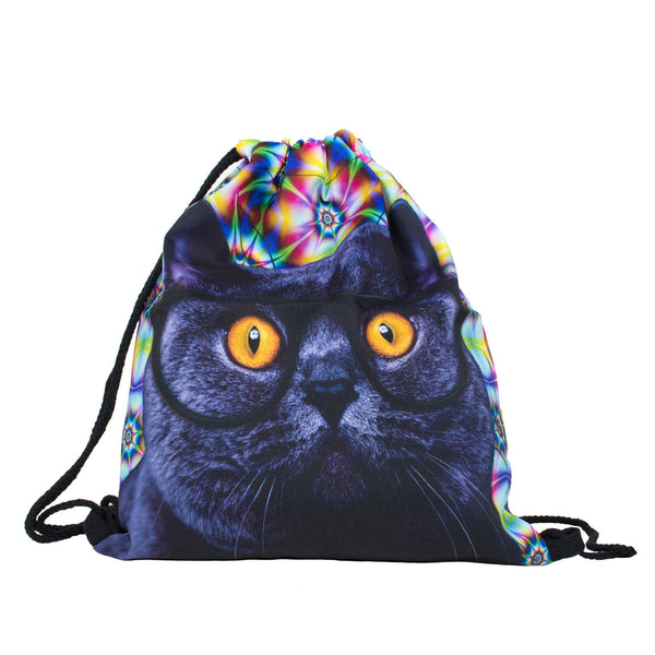 Cat Trip Drawstring Bag-Shelfies-7-China-| All-Over-Print Everywhere - Designed to Make You Smile