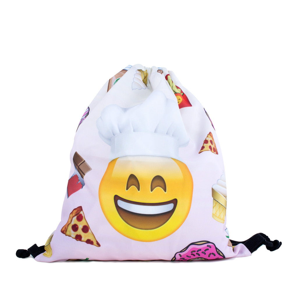 Emoji Chef Drawstring Bag-Shelfies-One Size-| All-Over-Print Everywhere - Designed to Make You Smile
