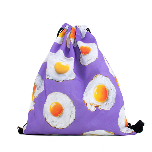 Fried Eggs Drawstring Bag-Shelfies-One Size-| All-Over-Print Everywhere - Designed to Make You Smile