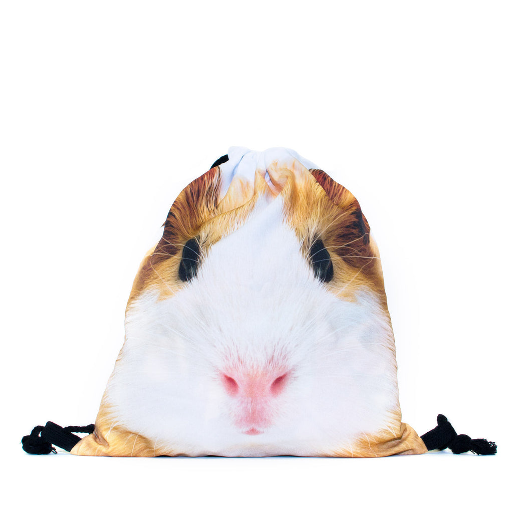 Guinea Pig Face Drawstring Bag-Shelfies-One Size-| All-Over-Print Everywhere - Designed to Make You Smile