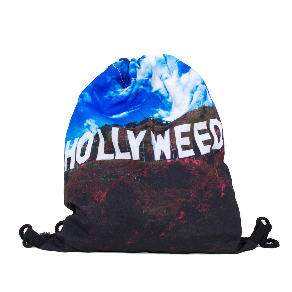 Hollyweed Drawstring Bag-Shelfies-One Size-| All-Over-Print Everywhere - Designed to Make You Smile