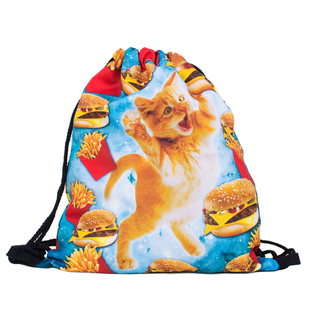 Drawstring Bags - Junkfood Cat Drawstring Bag
