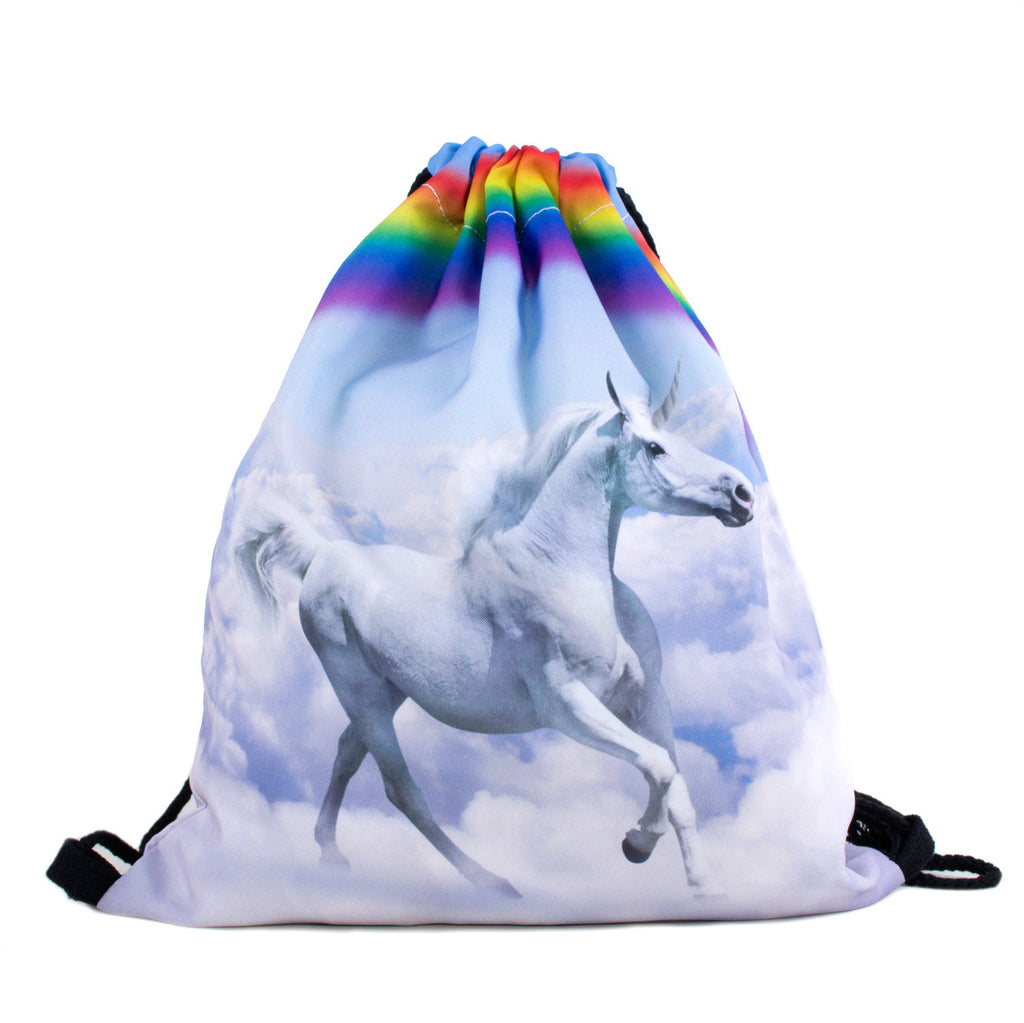 Magical Unicorn Drawstring Bag-Shelfies-| All-Over-Print Everywhere - Designed to Make You Smile