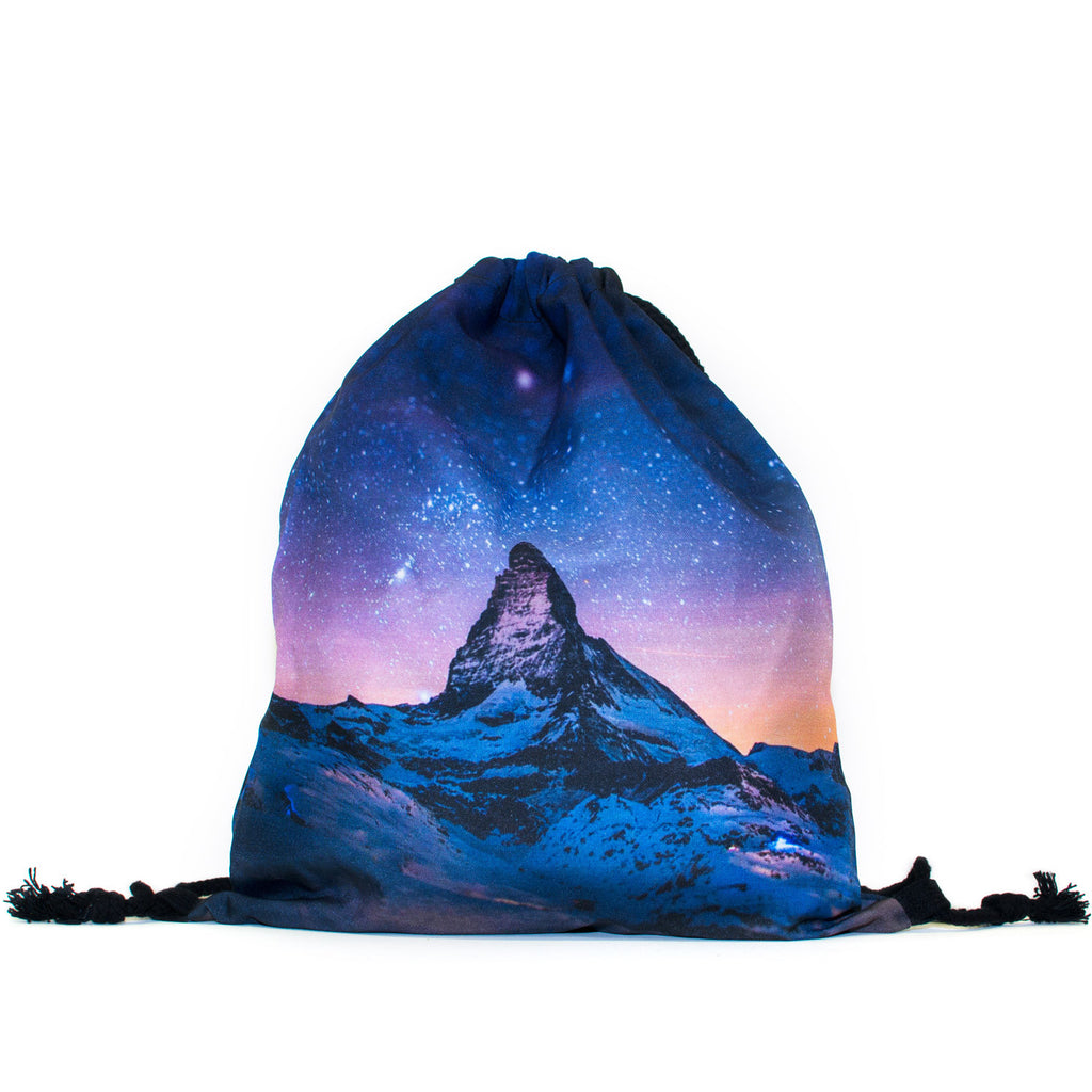 Northern Lights Drawstring Bag - Shelfies | All-Over-Print Everywhere - Designed to Make You Smile
