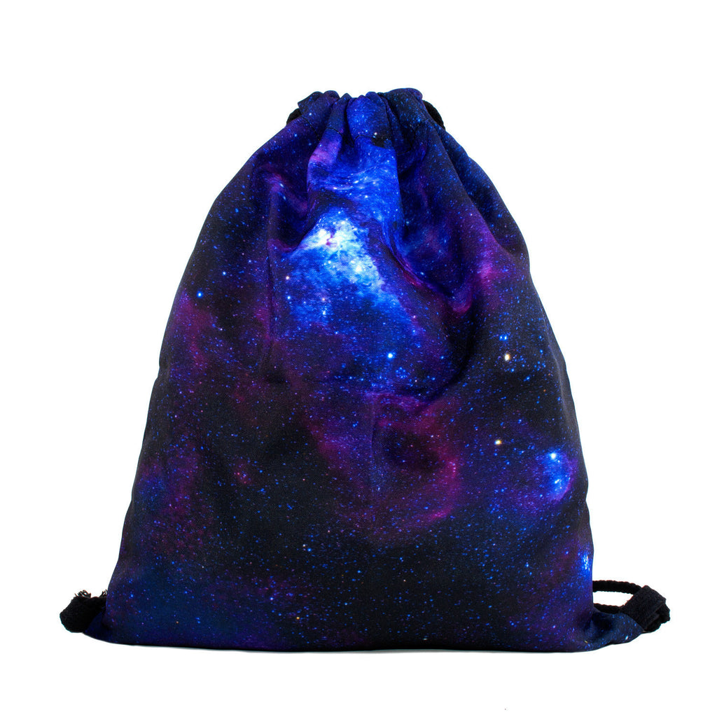 Purple Galaxy Drawstring Bag-Shelfies-One Size-| All-Over-Print Everywhere - Designed to Make You Smile