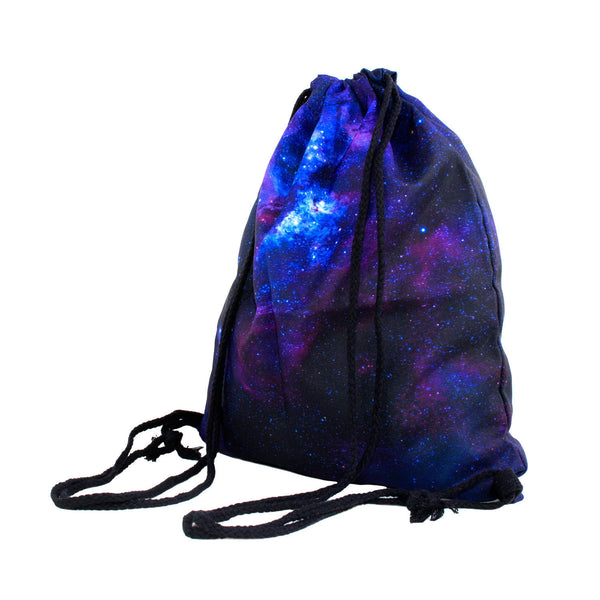 Drawstring Bags - Purple Galaxy Drawstring Bag