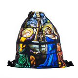 Stained Glass Drawstring Bag-Shelfies-One Size-| All-Over-Print Everywhere - Designed to Make You Smile