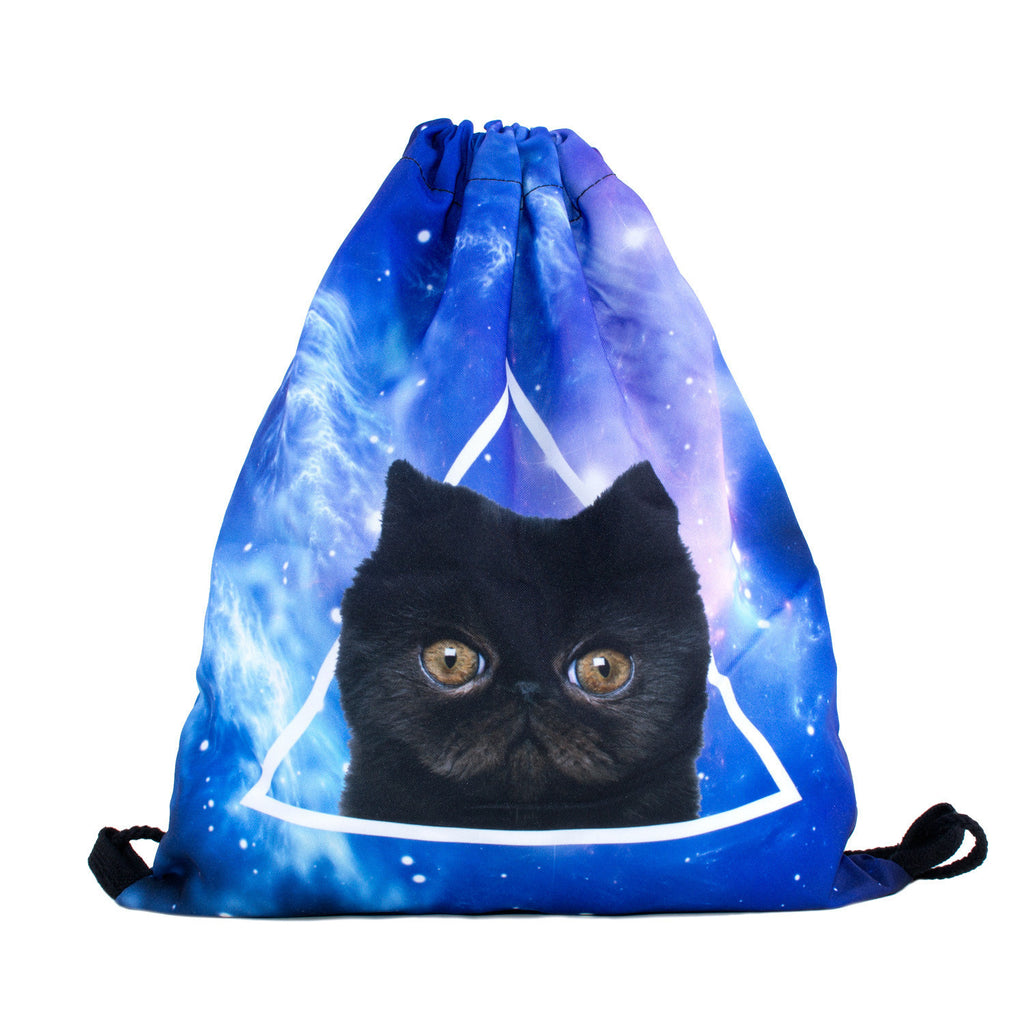 Triangle Illuminati Drawstring Bag-Shelfies-| All-Over-Print Everywhere - Designed to Make You Smile