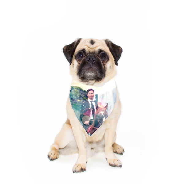 Dreamy Trudeau Pet Bandana-Gooten-24x24 inch-| All-Over-Print Everywhere - Designed to Make You Smile