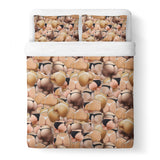 Booty Invasion Duvet Cover Set-Shelfies-Queen + Two Pillow Cases-| All-Over-Print Everywhere - Designed to Make You Smile