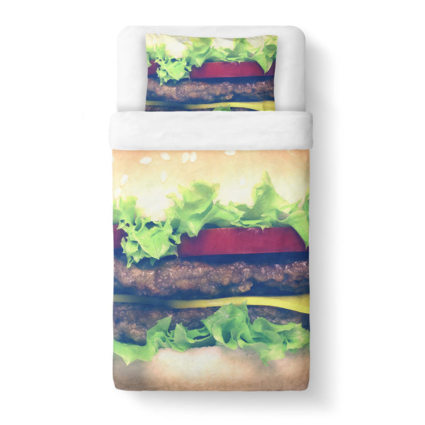 Burger Duvet Cover-Shelfies-Twin-| All-Over-Print Everywhere - Designed to Make You Smile