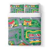 Carpet Track Duvet Cover Set-Shelfies-Queen + Two Pillow Cases-| All-Over-Print Everywhere - Designed to Make You Smile