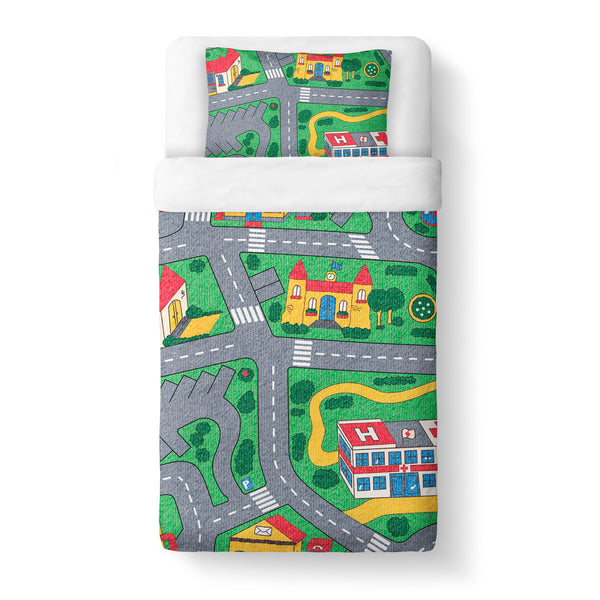 Carpet Track Duvet Cover Set-Shelfies-Twin + 1 Pillow Case-| All-Over-Print Everywhere - Designed to Make You Smile