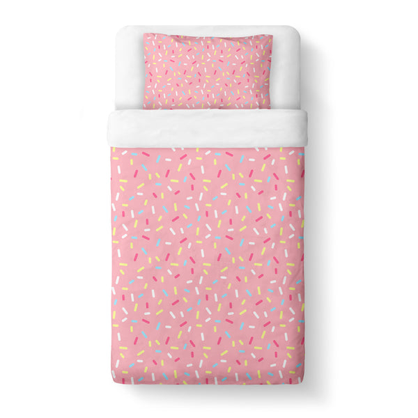 Cartoon Sprinkles Duvet Cover Set-Shelfies-Twin + 1 Pillow Case-| All-Over-Print Everywhere - Designed to Make You Smile