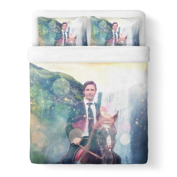 Dreamy Trudeau Duvet Cover-Shelfies-Queen-| All-Over-Print Everywhere - Designed to Make You Smile