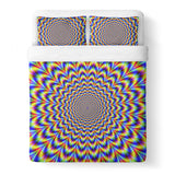 Fractal Pulse Duvet Cover-Gooten-Queen-| All-Over-Print Everywhere - Designed to Make You Smile