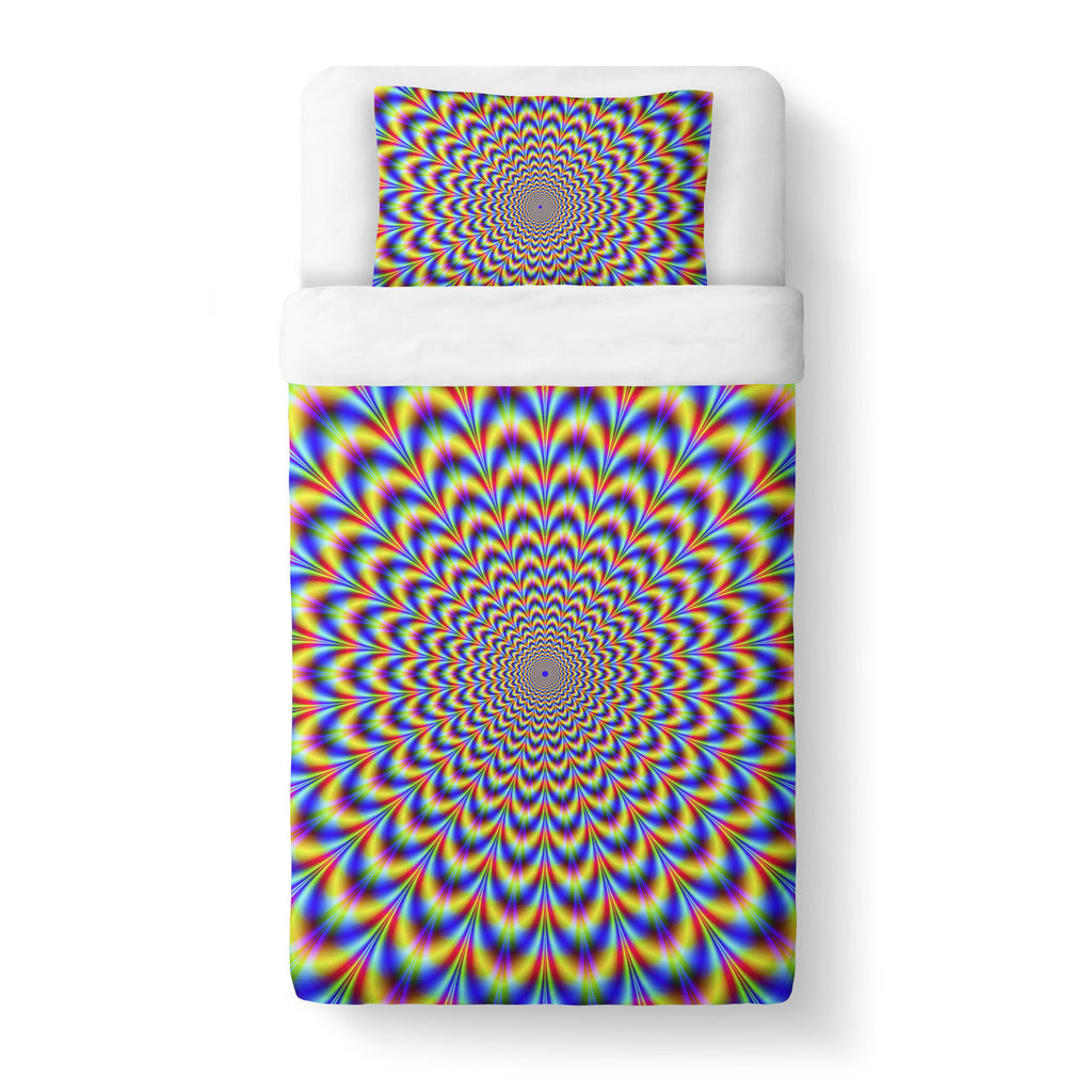 Fractal Pulse Duvet Cover-Gooten-Twin-| All-Over-Print Everywhere - Designed to Make You Smile