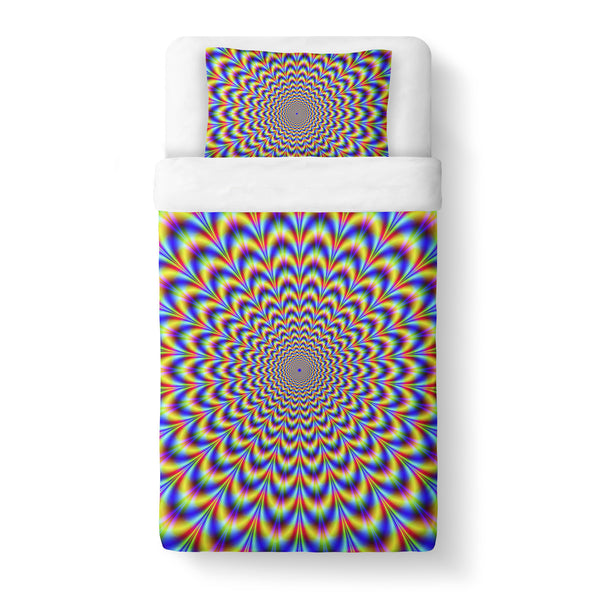 Fractal Pulse Duvet Cover Set-Shelfies-Twin + 1 Pillow Case-| All-Over-Print Everywhere - Designed to Make You Smile