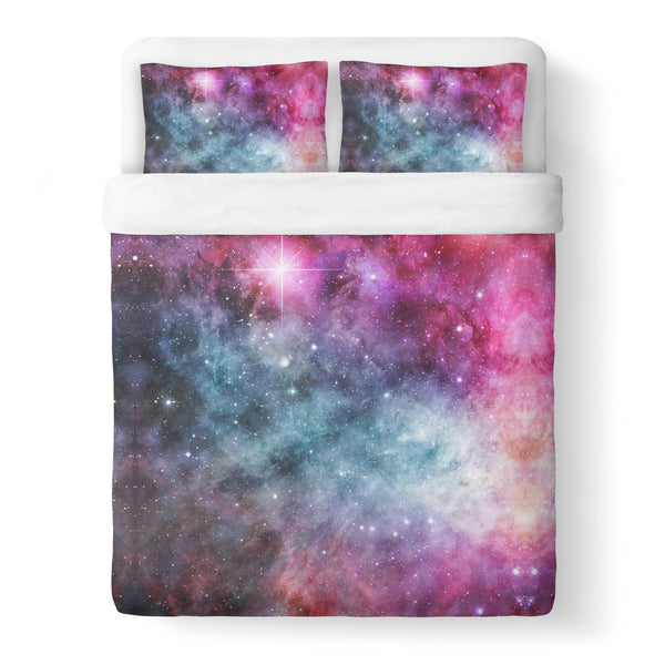 Galaxy Love Duvet Cover Set-Shelfies-Queen + Two Pillow Cases-| All-Over-Print Everywhere - Designed to Make You Smile