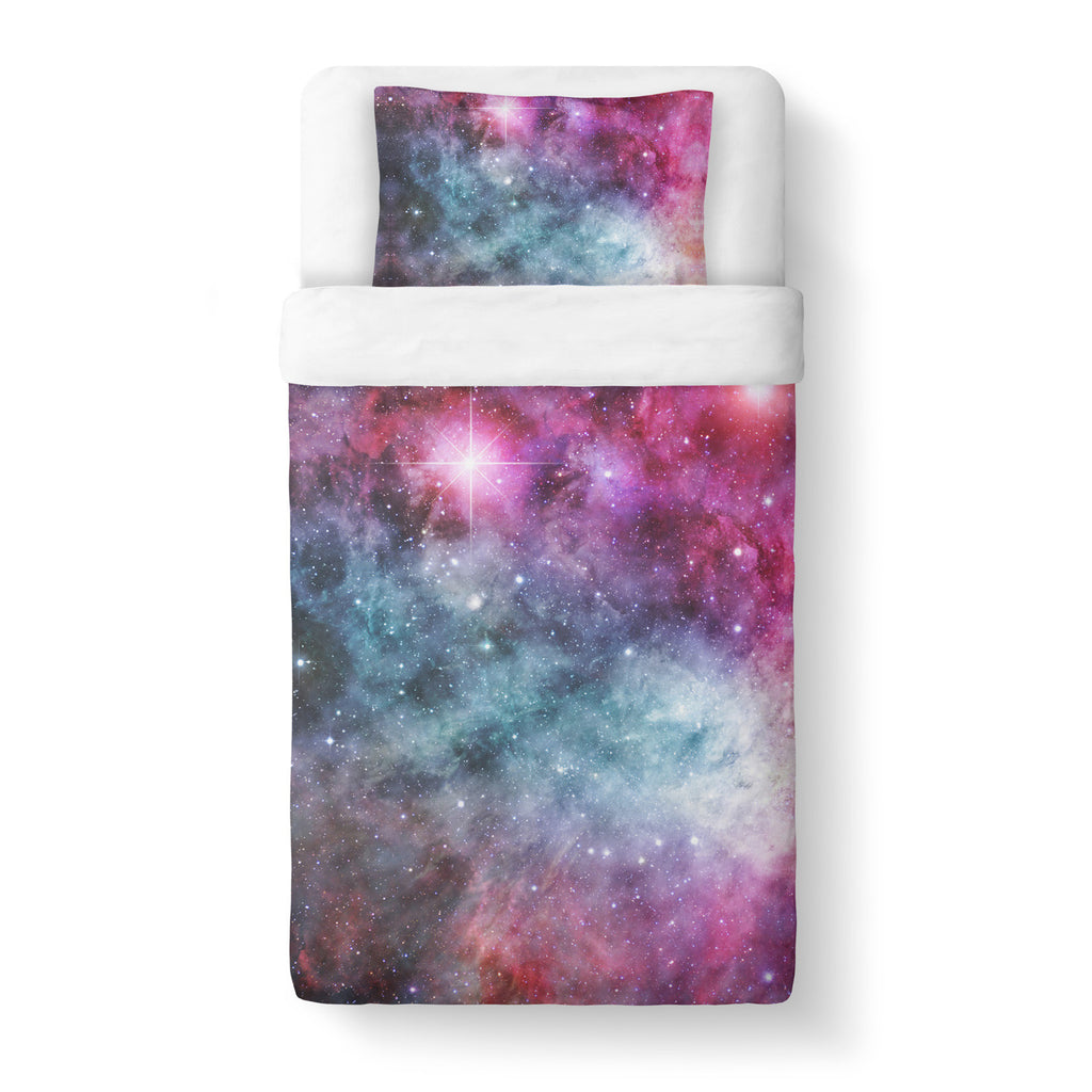 Galaxy Love Duvet Cover Set-Shelfies-Twin + 1 Pillow Case-| All-Over-Print Everywhere - Designed to Make You Smile