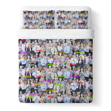 Happy Business Invasion Duvet Cover-Shelfies-Queen-| All-Over-Print Everywhere - Designed to Make You Smile