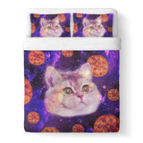 Heavy Breathing Cat Duvet Cover-Gooten-Queen-| All-Over-Print Everywhere - Designed to Make You Smile