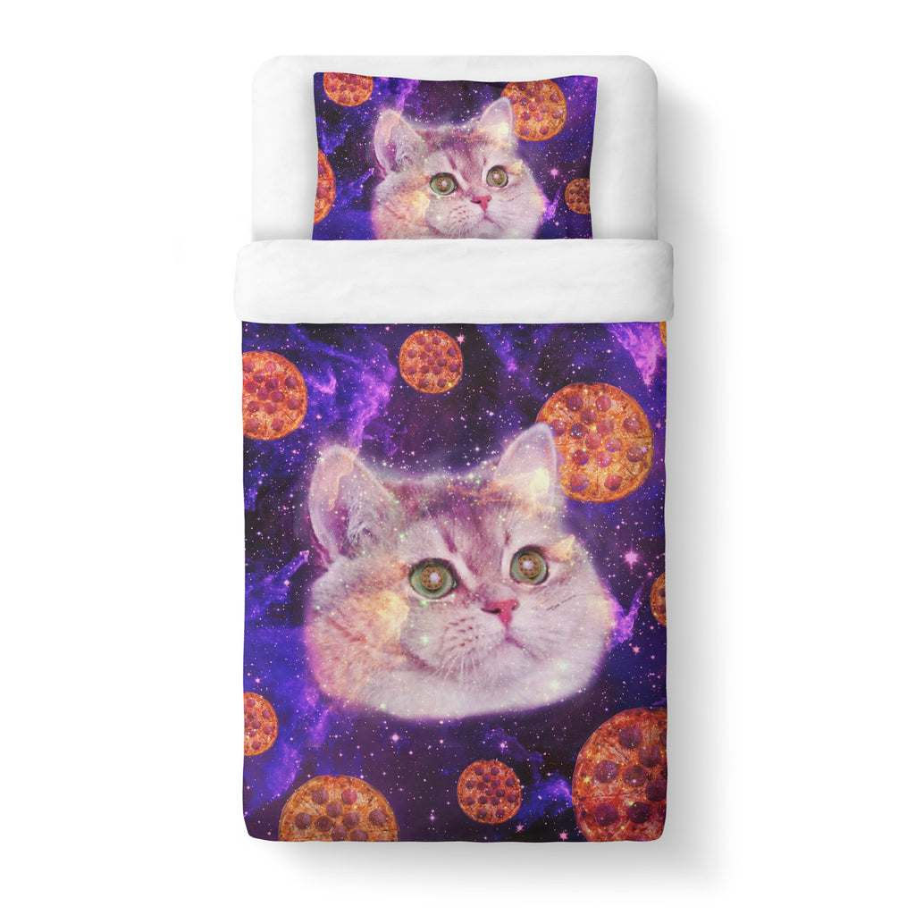 Heavy Breathing Cat Duvet Cover-Gooten-Twin-| All-Over-Print Everywhere - Designed to Make You Smile