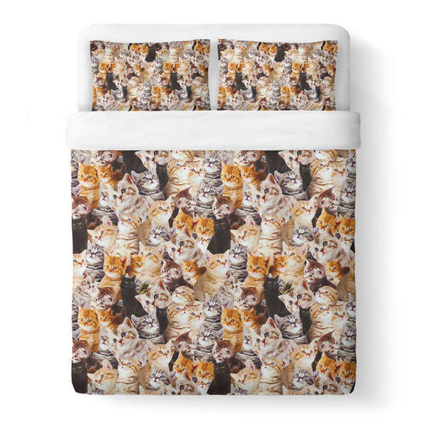Kitty Invasion Duvet Cover-Shelfies-| All-Over-Print Everywhere - Designed to Make You Smile