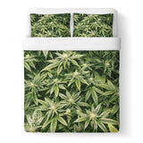 Kush Leaves Duvet Cover Set - Shelfies | All-Over-Print Everywhere - Designed to Make You Smile