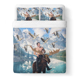 Moosin' Trudeau Duvet Cover-Shelfies-Queen-| All-Over-Print Everywhere - Designed to Make You Smile