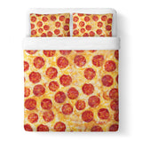 Pizza Invasion Duvet Cover Set-Shelfies-Queen + Two Pillow Cases-| All-Over-Print Everywhere - Designed to Make You Smile