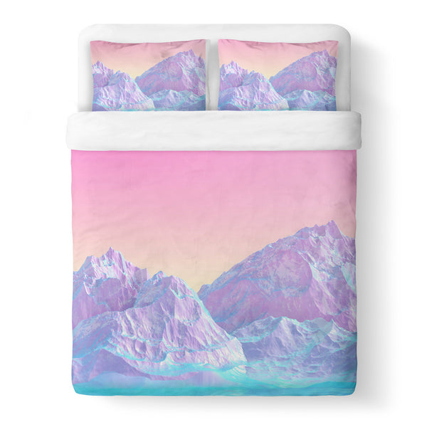 Pastel Mountain Duvet Cover-Shelfies-Queen-| All-Over-Print Everywhere - Designed to Make You Smile