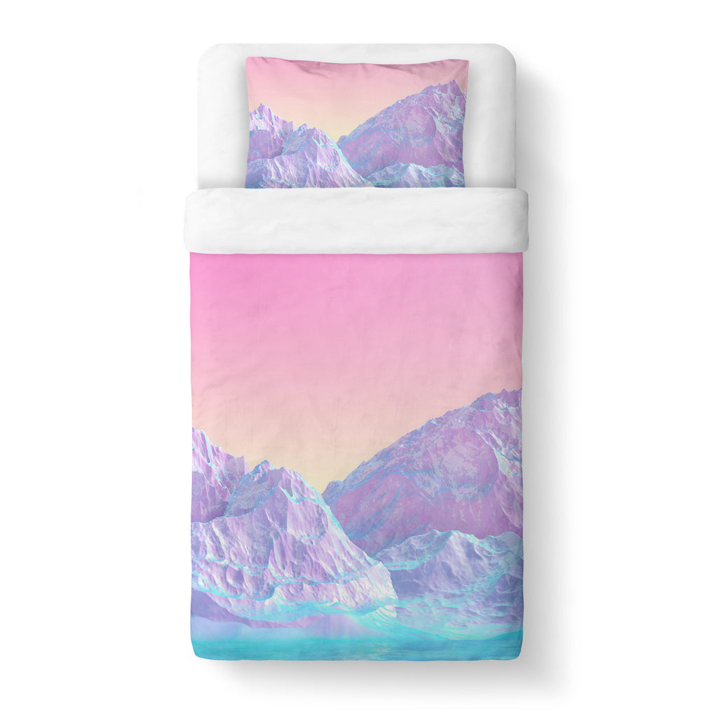 Duvet Cover Sets - Pastel Mountain Duvet Cover Set