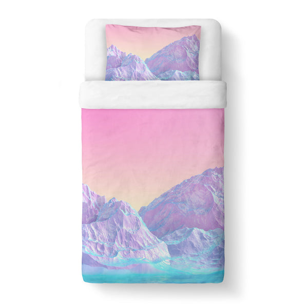Pastel Mountain Duvet Cover-Shelfies-Twin-| All-Over-Print Everywhere - Designed to Make You Smile