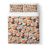 Sushi Invasion Duvet Cover-Gooten-Queen-| All-Over-Print Everywhere - Designed to Make You Smile